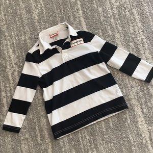 Boys Hunter by target Black & white striped shirt